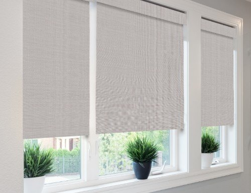 Grey Tavarua Woven Wood Shades