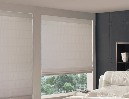 Tan Valencia Light Filtering Roman Shades