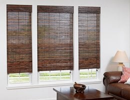 Tan Tavarua Exotic Woven Wood Shades