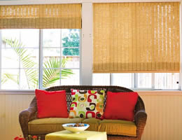 Green Tavarua Designer Woven Wood Shades
