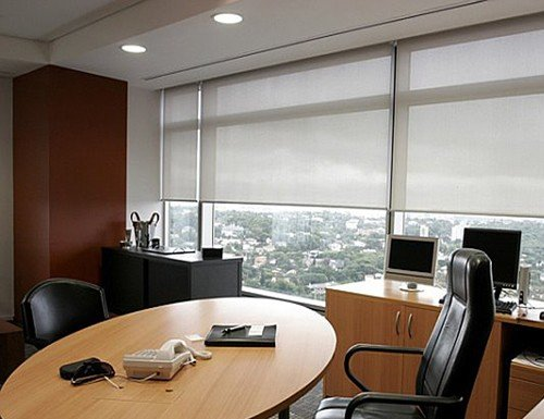 Tan Eclipse 5% Screen Roller Shades