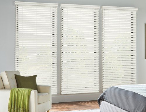 Tan Aspen 2 inch Faux Wood Blinds