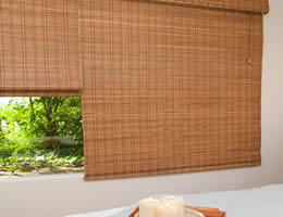 Walnut Tavarua Basics Bamboo Shades