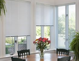 Silver 1 inch Cordless Mini Blinds
