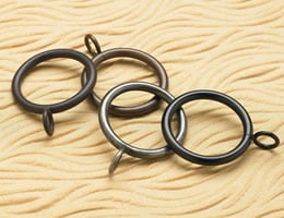 "2 1/2"" Eyelet Drapery Rings (10 pk) - Wrought Iron"