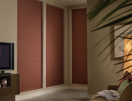 White Room Darkening Pleated Shades w/ No Holes Privacy