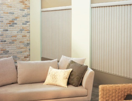 Silver S-Curve Vertical Blinds