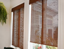 Walnut Tavarua Sunscreen Bamboo Roller Shades