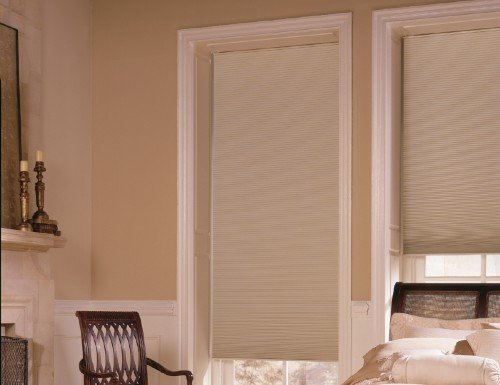 "Deluxe 3/8"" Blackout Double Cell Shades"