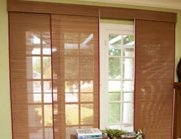 Red Tavarua Bamboo Sliding Panels