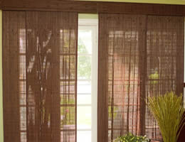 Red Tavarua Exotic Bamboo Sliding Panels