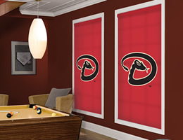 Red Arizona Diamondbacks Roller Shades