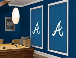 Grey Atlanta Braves Roller Shades