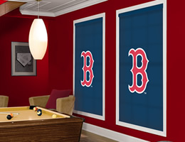Blue Boston Red Sox Roller Shades