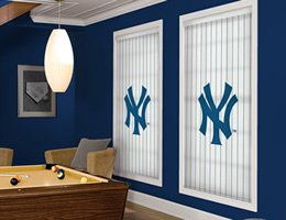 Red New York Yankees Roller Shades