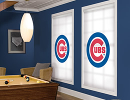 Red Chicago Cubs Roller Shades