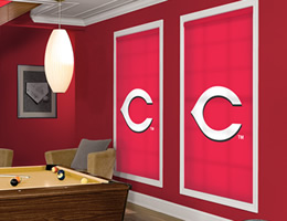 Red Cincinnati Reds Roller Shades