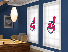 Red Cleveland Indians Roller Shades