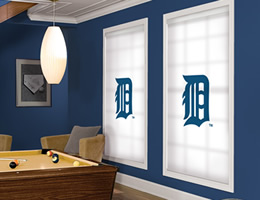 Blue Detroit Tigers Roller Shades