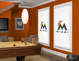 Miami Marlins Roller Shades