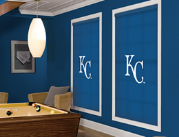 Blue Kansas City Royals Roller Shades