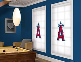 Red Los Angeles Angels Roller Shades