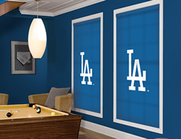 Red Los Angeles Dodgers Roller Shades