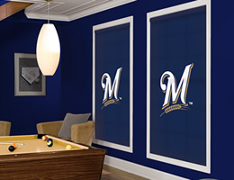Yellow Milwaukee Brewers Roller Shades