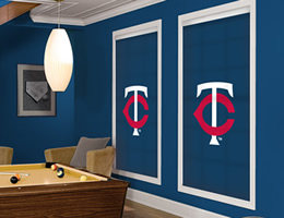 Red Minnesota Twins Roller Shades