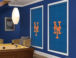 Blue New York Mets Roller Shades