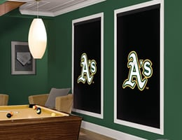 Yellow Oakland A's Roller Shades