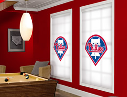 Blue Philadelphia Phillies Roller Shades