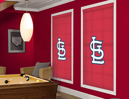 Red St. Louis Cardinals Roller Shades