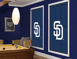Cream San Diego Padres Roller Shades