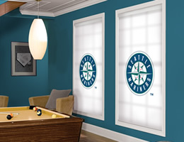 Blue Seattle Mariners Roller Shades