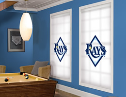 Blue Tampa Bay Rays Roller Shades