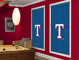 Blue Texas Rangers Roller Shades