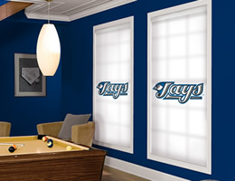 White Toronto Blue Jays Roller Shades