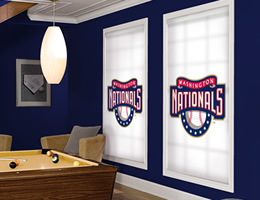 Red Washington Nationals Roller Shades