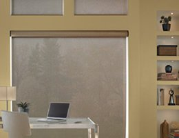 Grey Smart Weave 1% Screen Roller Shades