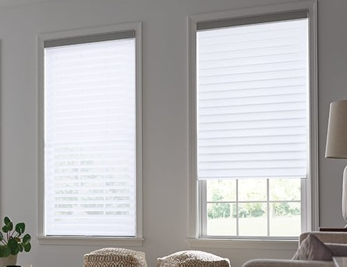 "Light Filter Horizontal Sheer Shades - 3"" Vanes"