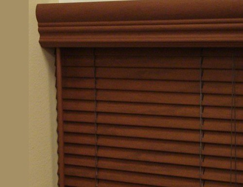 Chestnut Aspen 1 inch Faux Wood Blinds