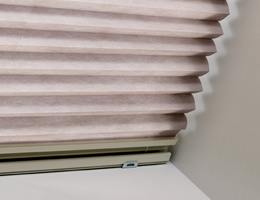 White Pleated Room Darkening Skylight Shades