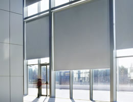 Grey Suntec Blackout Vinyl Roller Shades