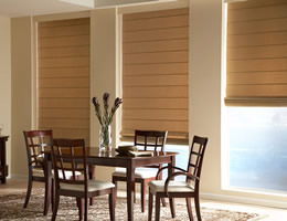 Tan Lumina Light Filtering Roman Shades