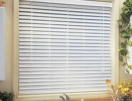 Red QUICK SHIP - 2 inch Faux Wood Blinds