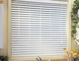 Cream QUICK SHIP - 2 inch Faux Wood Blinds