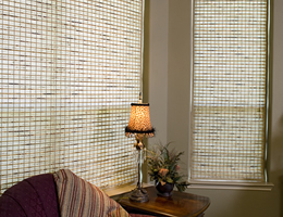 Green Caman Natural Woven Wood Shades