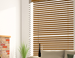 Chestnut Sierra 2 inch Wood Blinds