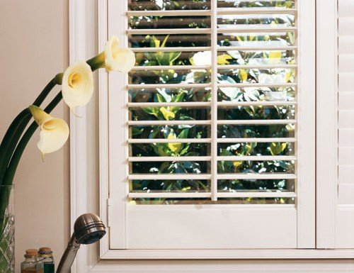 White Norman Woodlore Composite Shutters